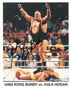 KING KONG BUNDY VS HULK HOGAN 8x10 AUTO AUTOGRAPH