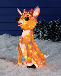 Rudolph The Red Nosed Reindeer - Clarice Yard Art, New
