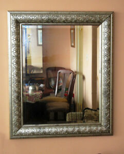 Wall Mirror in a Silver Frame