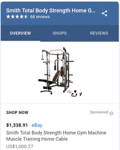 Full Function Rack/smith/pulley systen