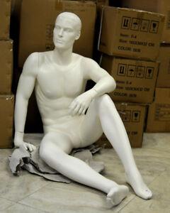 Male Full Body Mannequin. WHITE.