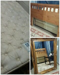mattress/frame/headboard and spring box