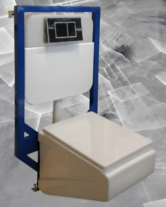 Wall Mounted Washdown Dual Flush Toilet Set With Wall Tank &Seat