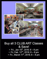 Today Only Save 50% on Intermediate Club Art Classes