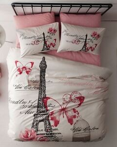 New (still in bag) Double Paris Butterfly Theme Bedding