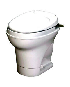 RV/ Trailer Toilet, Side/Pedal Flush/Parchment