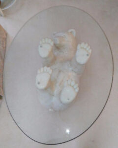 Bear Glass Coffee Table from DeBoer's