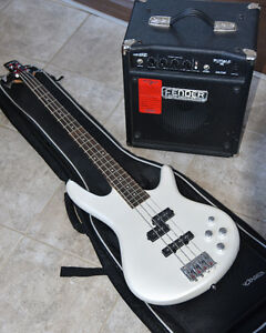Ibanez Bass Guitar with Fender Rumble Amp & Voyageur Case