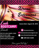 HAIR /  LASH EXTENSIONS TRAINING COURSE $500 MOBILE