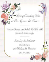 Spring Cleaing Sale (Bliss Gowns & Events)