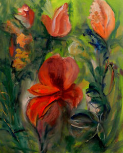"""Garden"", oil painting on canvas West Island Greater Montréal image 1"