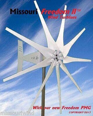 Missouri Freedom II 24/48 volt 2000 watt max 9 blade wind turbine with PMG