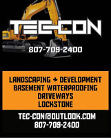 Basement waterproofing, driveways, landscaping and more!