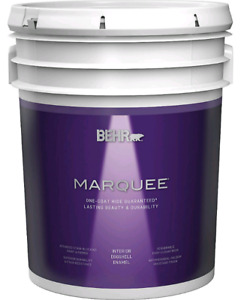 Behr 5 gallon egg shell white paint and primer