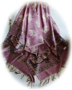 Silk and Pashmina scarves