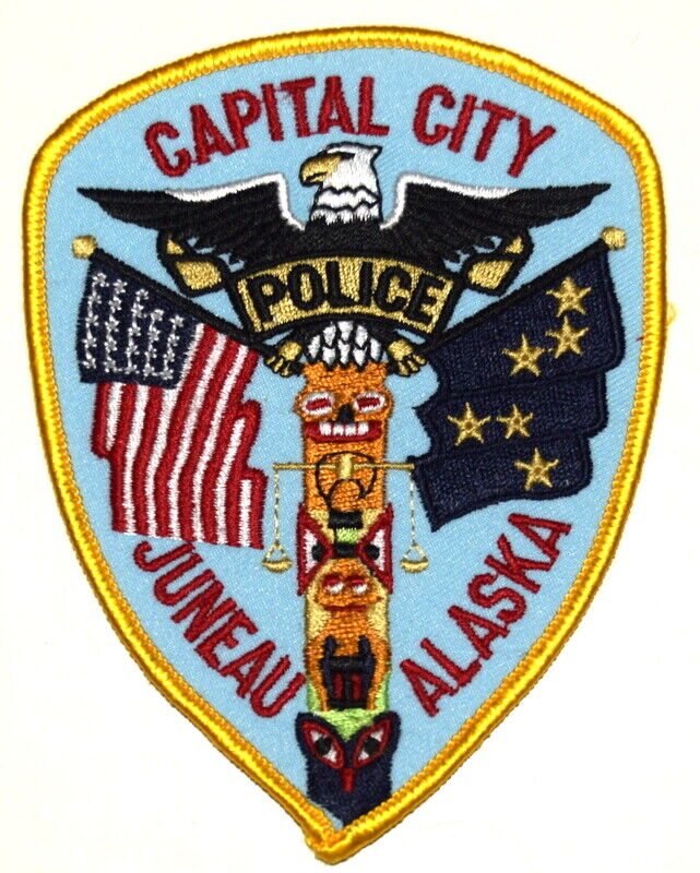 JUNEAU ALASKA AK Sheriff Police Patch CAPITAL CITY CAPITOL DOME TOTEM STATE FLAG