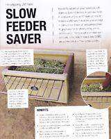 Hay Saver, Slow Feeder