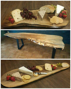 Charcuterie Boards, Live Edge Table, Bar Tops