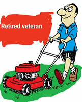 Retired vet lawn mowing service