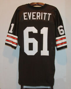 VINTAGE STEVE EVERITT SIGNED CLEVELAND BROWNS FOOTBALL JERSEY 46