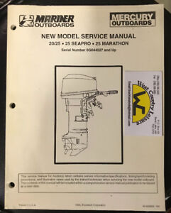 MERCURY 20/25/MARATHON/SEAPRO SHOP MANUAL