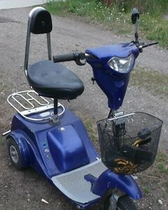 Electric three wheel scooter with new over $200 batteries