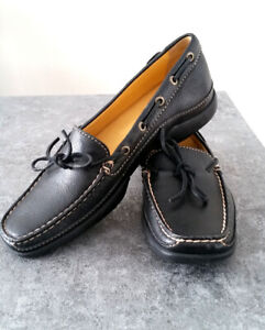 New Women's Brown  Leather  Loafers Moccasin Flat Shoes Size 6