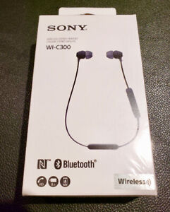 Sony WI-C300 Wireless Bluetooth Stereo Headset Earphones, NEW!!