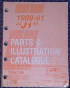 1989 to 1991 Tracker Chevrolet GMC Geo all models Parts & Illust