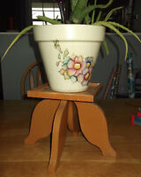 Hand-crafted wood plant/knic knack stands