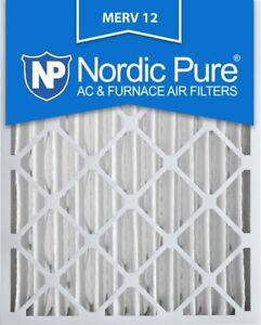 Nordic Pure 18x24x4M12-1 MERV 12 Pleated Air Condition Furnace F
