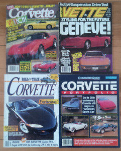 Corvette Reference and Magazines Bundle of Four