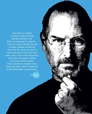 Steve Jobs  Quote Mini Poster Print  16X20