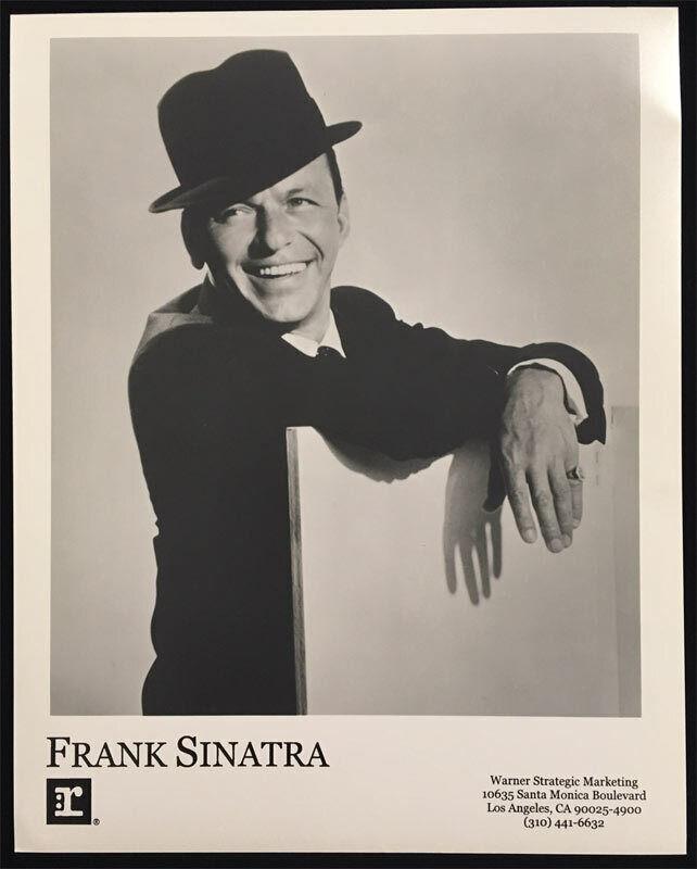 Frank Sinatra Original Reprise Records Promo Press Photo Warner Jazz Rare SHARP!