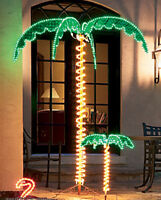 Rope Light LED Palm Tree Green and Yellow LED Rope Light