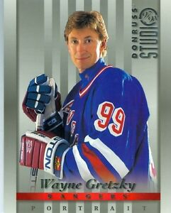 "1997/98 Donruss Studio Portrait 8"" X 10"" Hockey Card GRETZKY ROY"