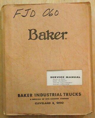 Vintage Baker Forklift Model Fjd-060 Service Parts Manual