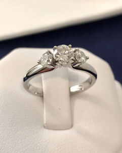 14K White Gold Diamond Engagement Ring /Certified at $3,400
