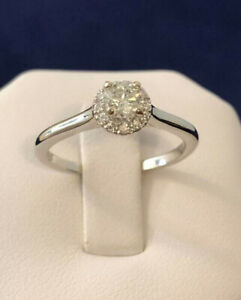 18k white gold Halo diamond engagement ring *Appraised @ $2,150