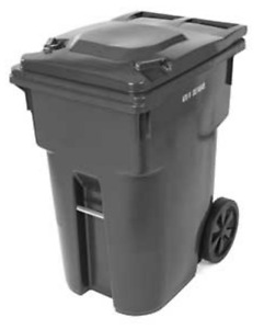 360 L Garbage Can with Wheels