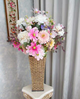 "Artificial Flower Arrangement with Stand -- 33"" x 22"""