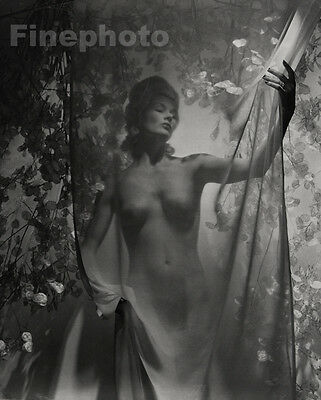 1939/92 ~ FEMALE NUDE Flowers Nails Fashion Woman Salon Photo Art Decor By HORST