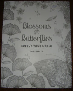 NEW BUTTERFLIES AND BLOSSOMS COLORING BOOK