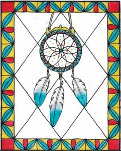 Dream Catcher Stained Glass Painting