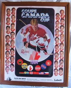1984 Canada Cup Poster Halifax Metro Center EXTREMELY RARE