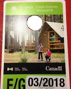 National park pass for all Canada parks