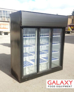 COMMERCIAL SLIDING GLASS 3 DOOR COOLERS / FRIDGES
