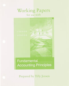 Working Papers to accompany Fundamental Accounting Principles