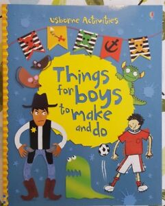 Kids Activity Book 'Things for Boys to Make & Do' by Usborne