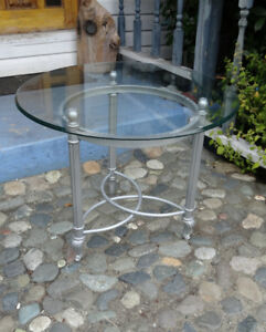 Glass Topped Coffee and Side Tables - Great Condition! In Bowser